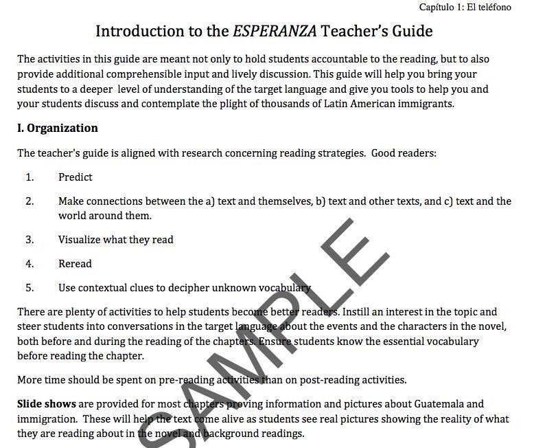 Esperanza - Docentenhandleiding