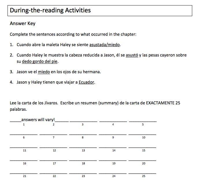 La maldición de la cabeza reducida - Teacher's Guide on CD