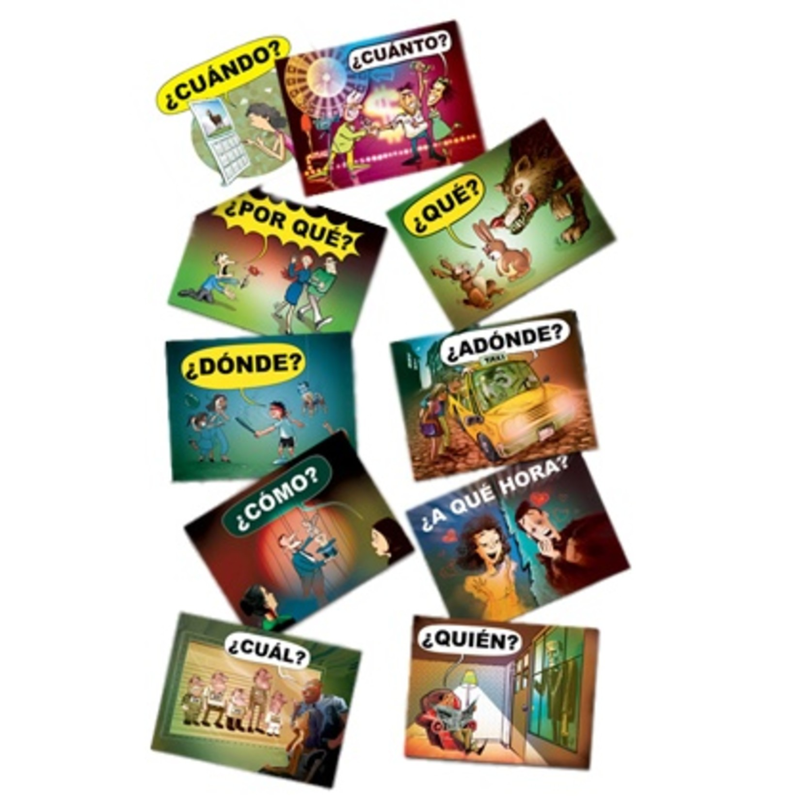 Command Performance Books Spanish question word posters