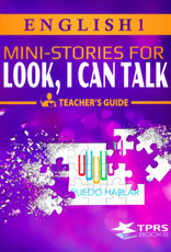 English 1  Look, I can talk! - Teacher's Guide