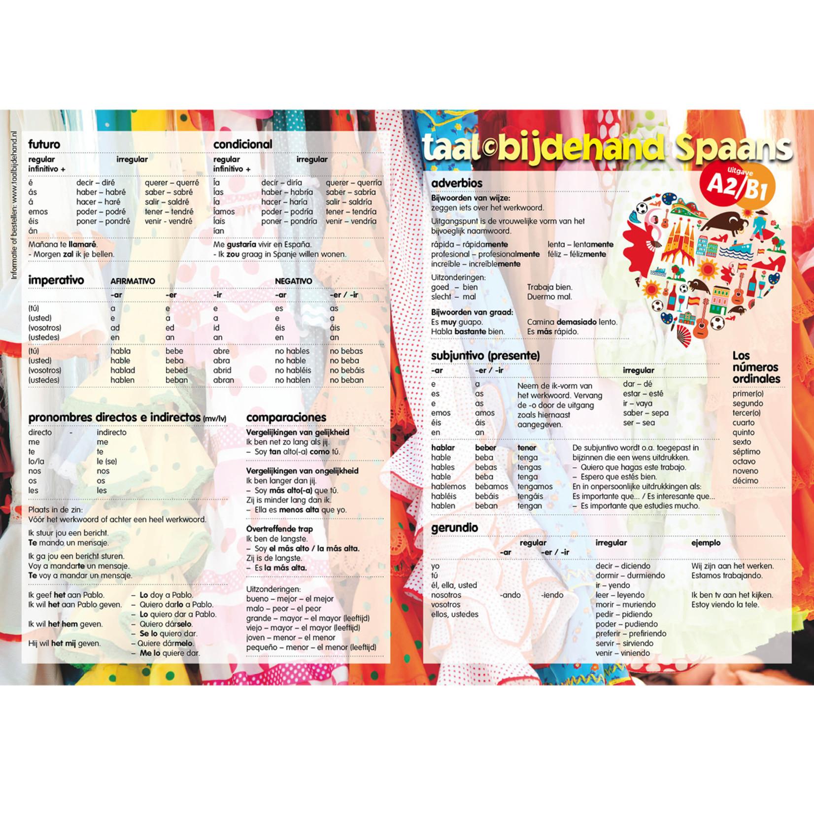 Taalbijdehand Taalkaart Spaans A2/B1