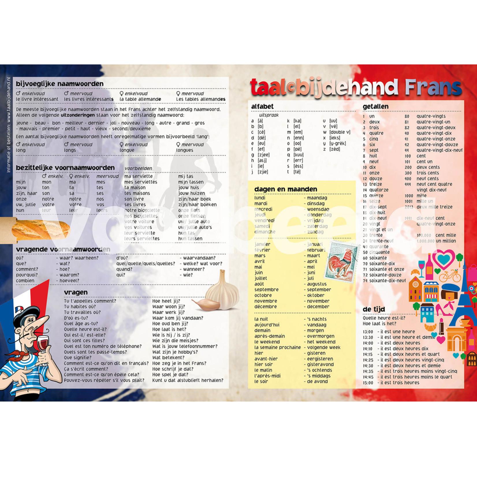 Taalbijdehand Taalkaart Frans A1