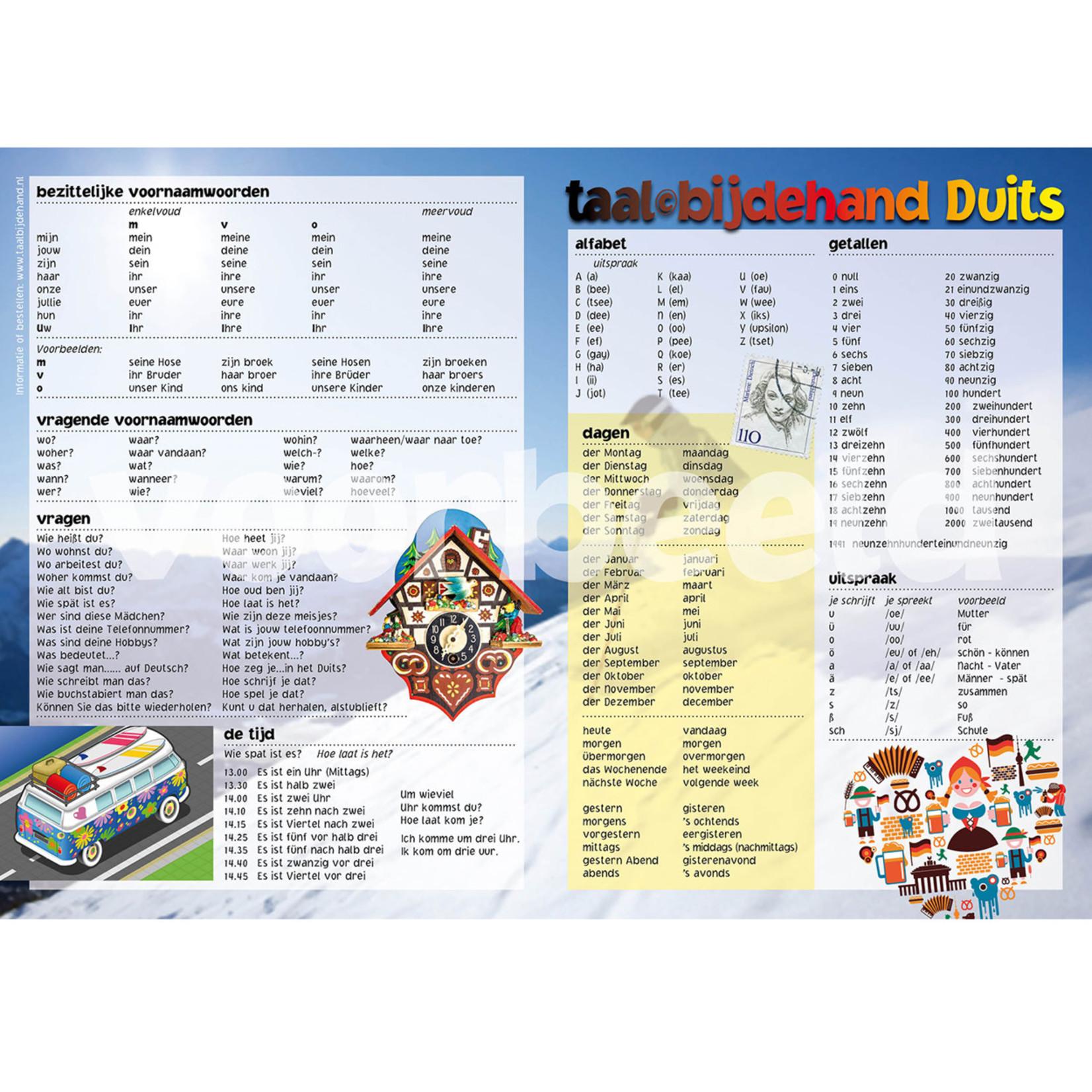 Taalbijdehand Taalkaart Duits A1