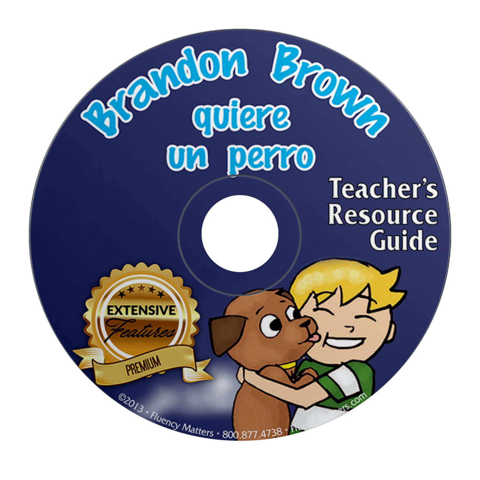 Fluency Matters Brandon Brown quiere un perro - Teacher's Guide on CD