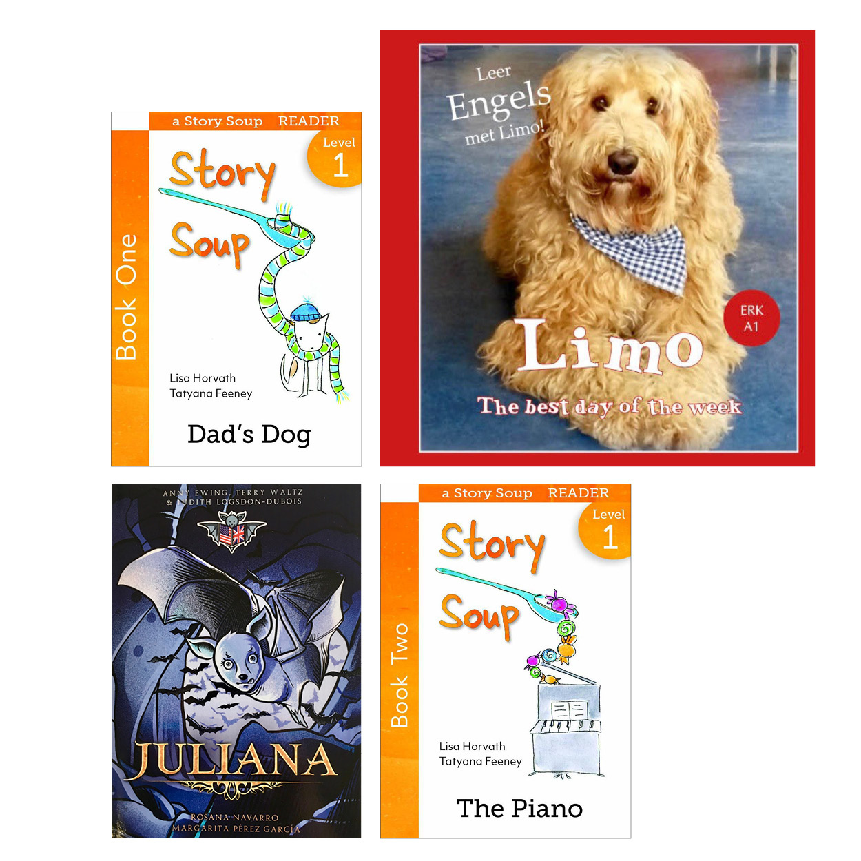 Themaset 4x Engels for kids: Limo, Juliana, 2x Story Soup