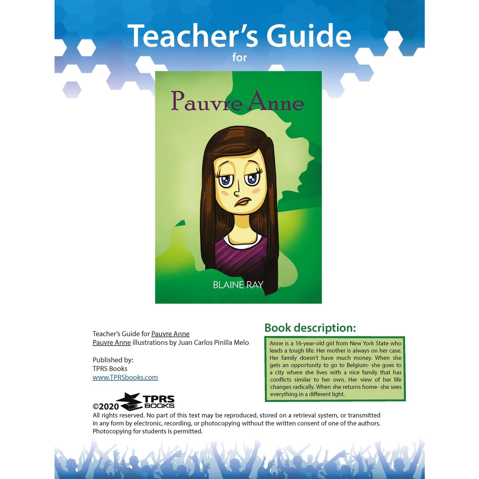 TPRS Books Pauvre Anne - Teacher's Guide