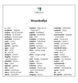 Woordenlijst El Brazalete Mágico
