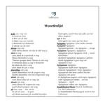 Dutch glossary for fragmenta Pīsōnis
