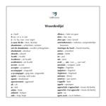 Dutch glossary for Le voyage de sa vie