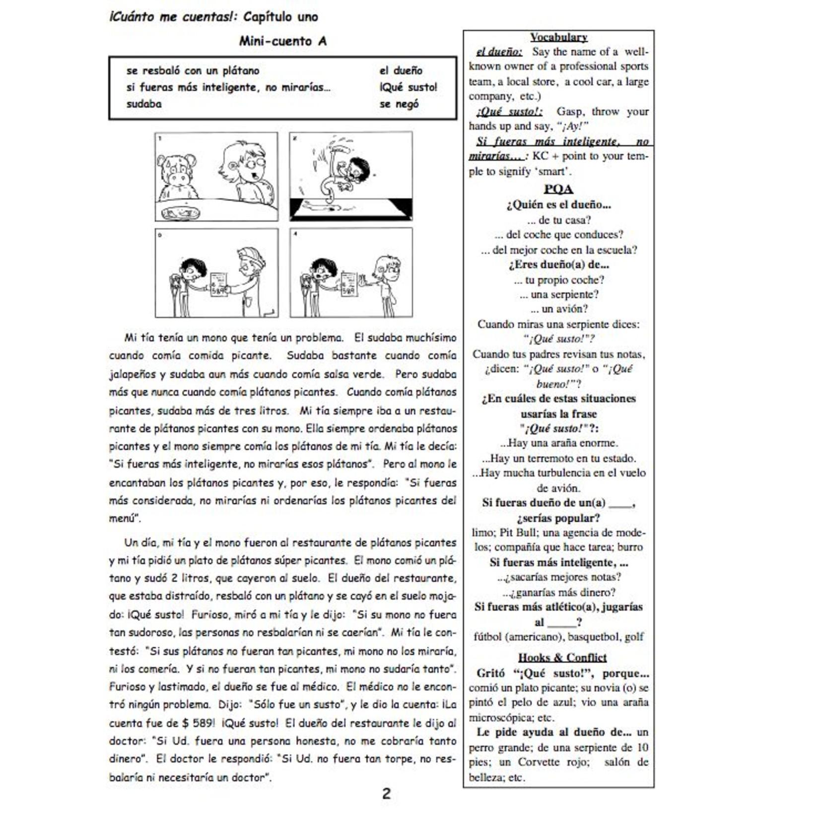 Fluency Matters ¡Cuánto me cuentas! Teacher's Manual