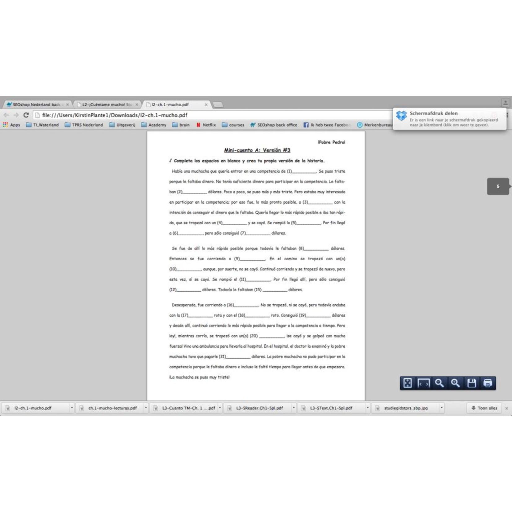 Fluency Matters ¡Cuéntame mucho! Student Textbook