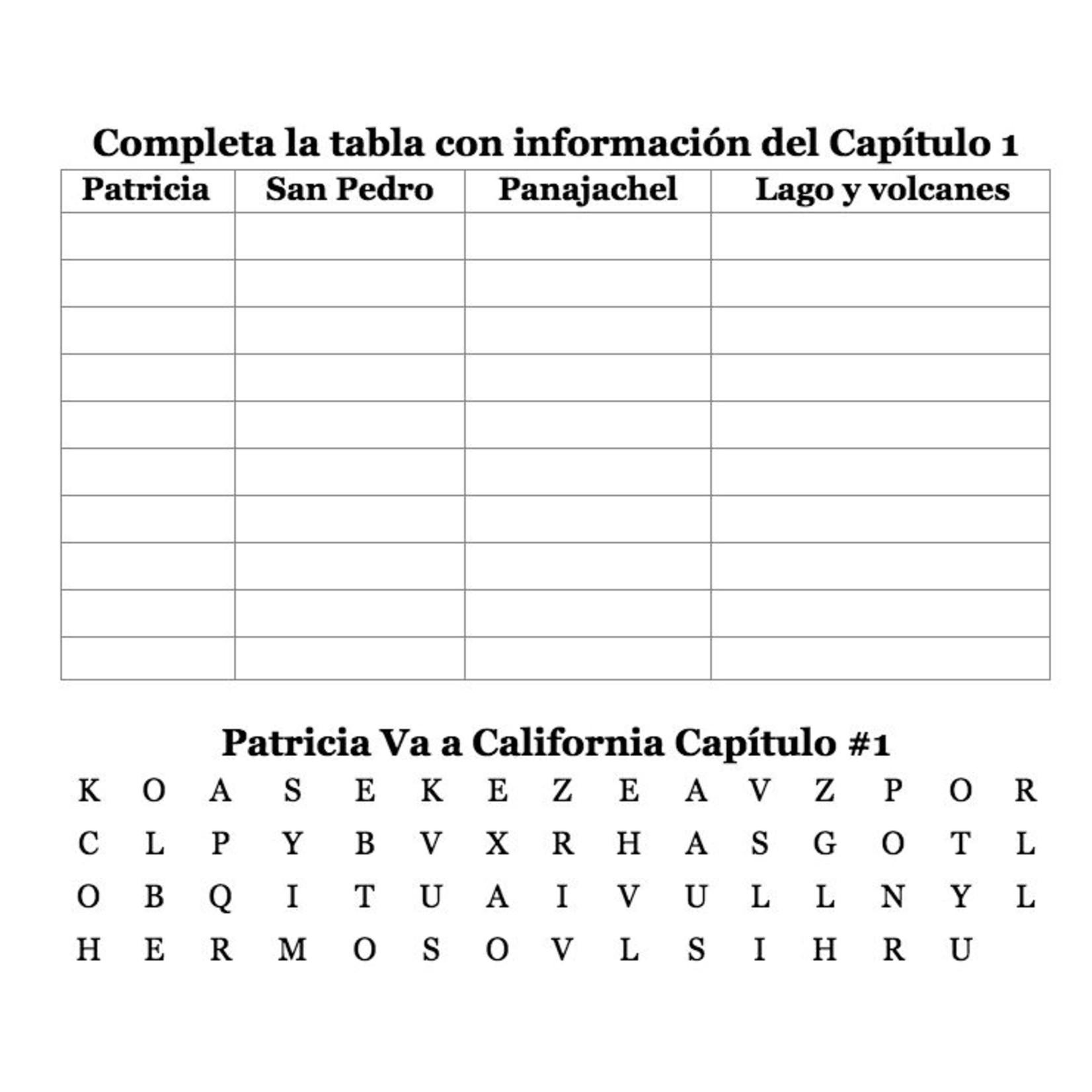 TPRS Books Patricia va a California - Actividades y ejercicios