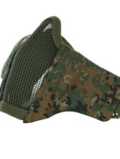 Airsoft face mask nylon/mesh digital camo