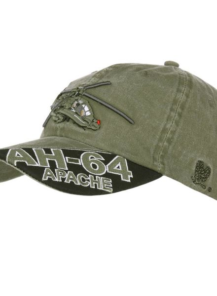 Baseball cap AH-64 Apache stone washed