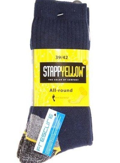 Stapp Yellow All-round Sokken Donker Blauw (2-pack)