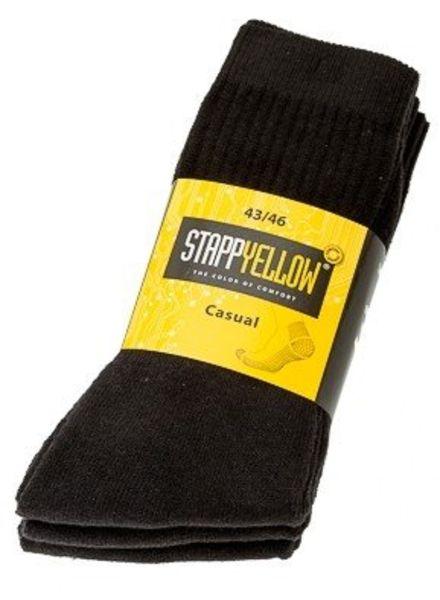 Stapp Yellow Casual sokken zwart (3-pack)
