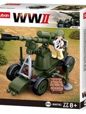 Sluban WWII Allied antiaircraft gun M38-B0678C #16107