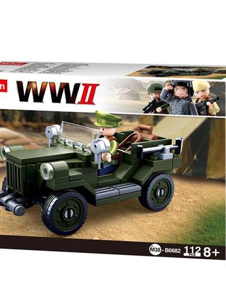 Sluban WWII Allied light truck M38-B0682 #16091