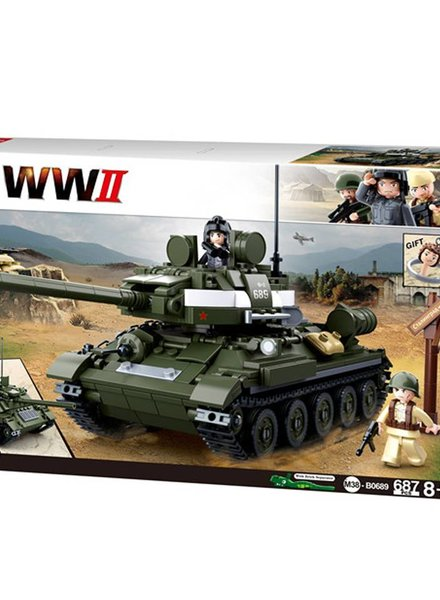 Sluban WWII Allied tank hunter M38-B0689 #16144
