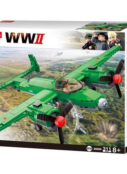 Sluban WWII Allied Bomber M38-B0688 #16098