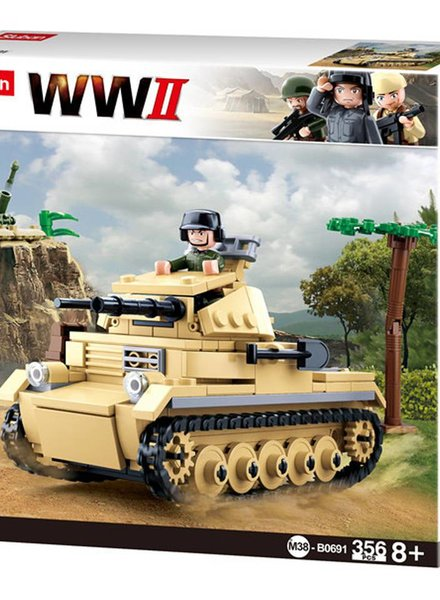 Sluban WWII small German Tank M38-B0691 #16096