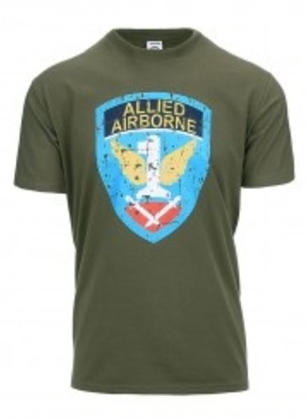 T-shirt Allied Airborne Groen