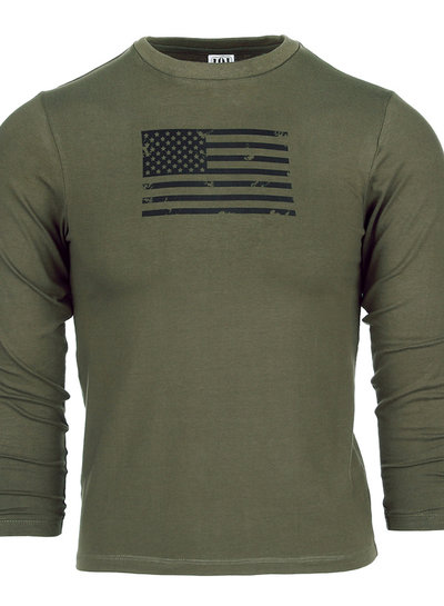Kinder t-shirt USA lange mouw