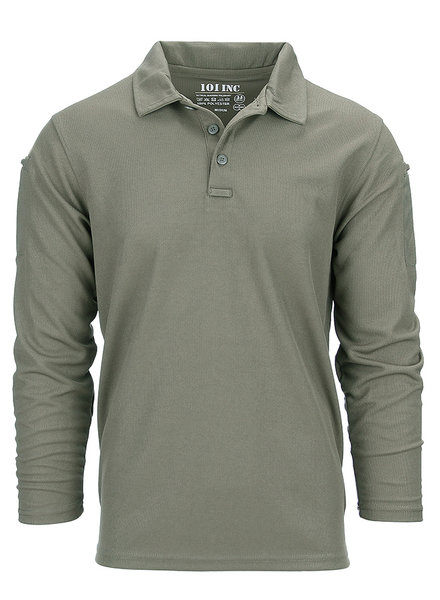 Tactical polo Quick Dry lange mouw Groen
