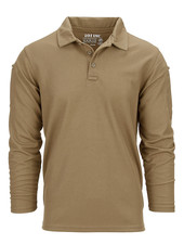 Tactical polo Quick Dry lange mouw Coyote