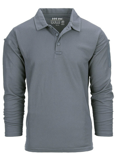 Tactical polo Quick Dry lange mouw Wolf Grey