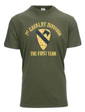 T-shirt 1st Cavalry Division Groen