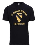 T-shirt 1st Cavalry Division Zwart
