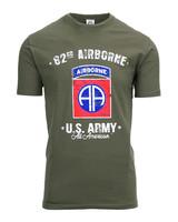 T-shirt U.S. Army 82nd Airborne Groen