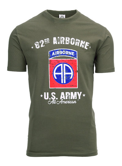 T-shirt U.S. Army 82nd Airborne Groen
