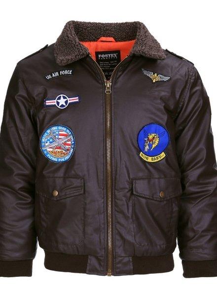 Kinder flight jacket PU leder