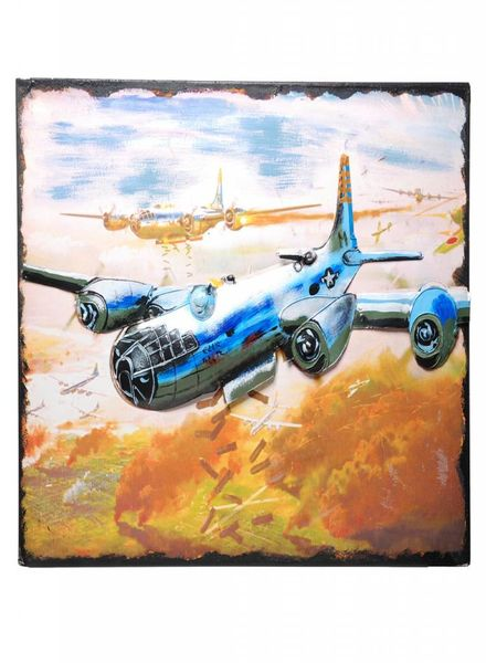 Metalen Painting bombing plane JLPT3365 #23