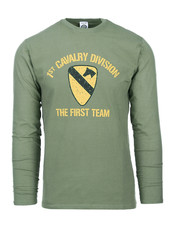 T-shirt First Cavalry Division lange mouw
