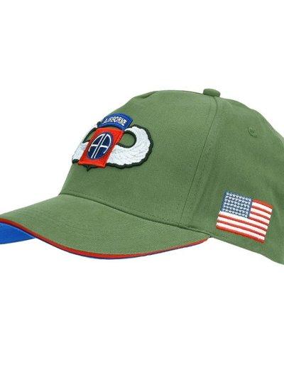 Baseball cap 82nd Airborne WWII 3D groen