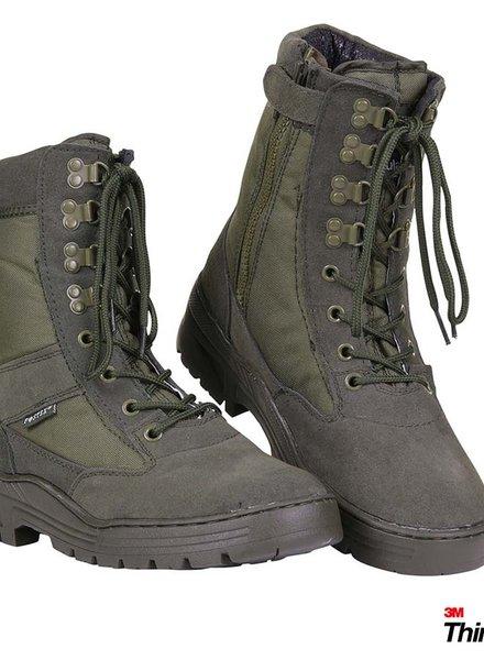Pr. sniper boots with YKK zipper Groen