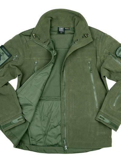 Heavy duty fleece vest Groen