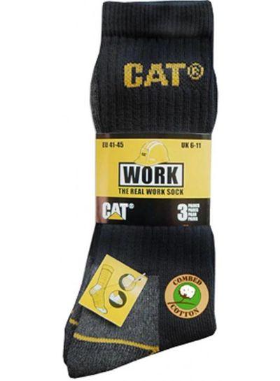 Cat werksokken pak van drie paar