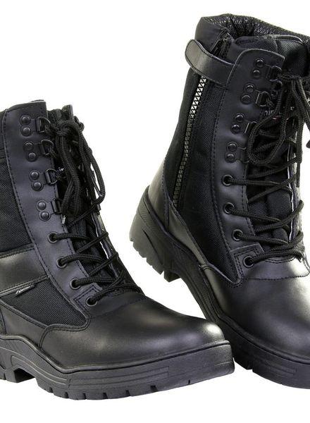Pr. sniper boots with YKK zipper Zwart