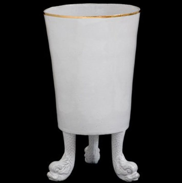 Astier de Villatte John Derian Vase -Three Feet and Gold Rim
