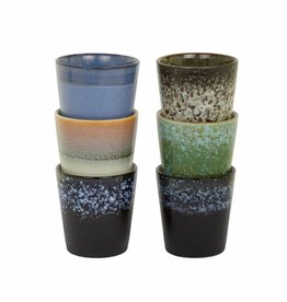 HK Living Cups Retro Style - set of 6