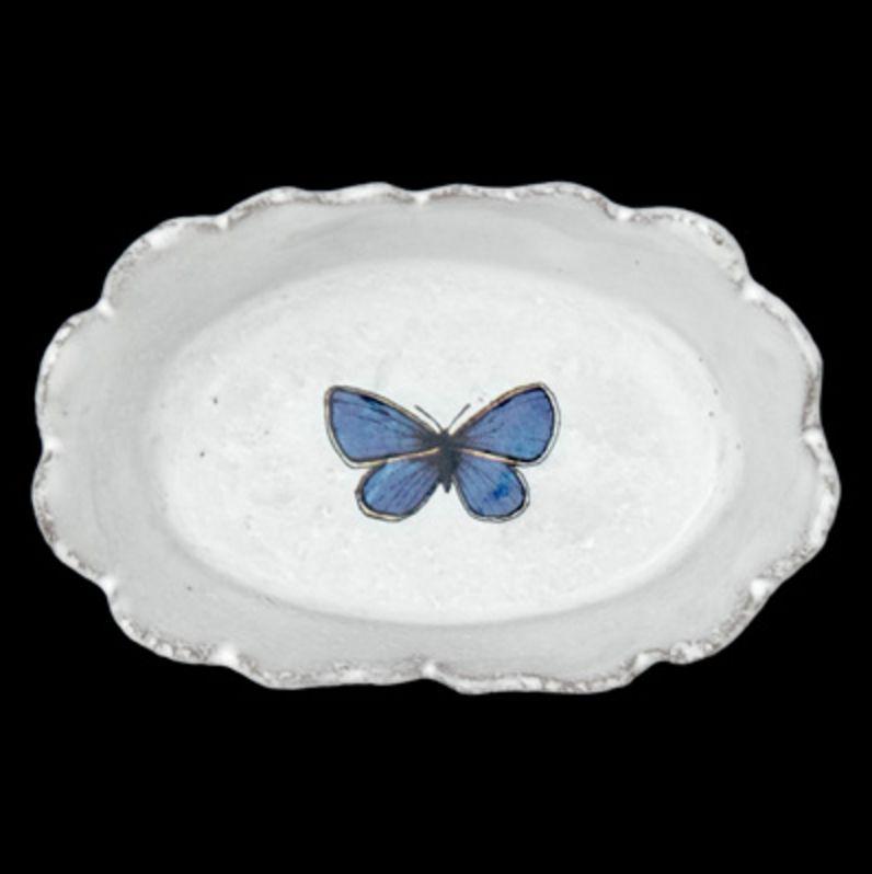 Astier de Villatte John Derian Dish - Dark Blue Butterfly