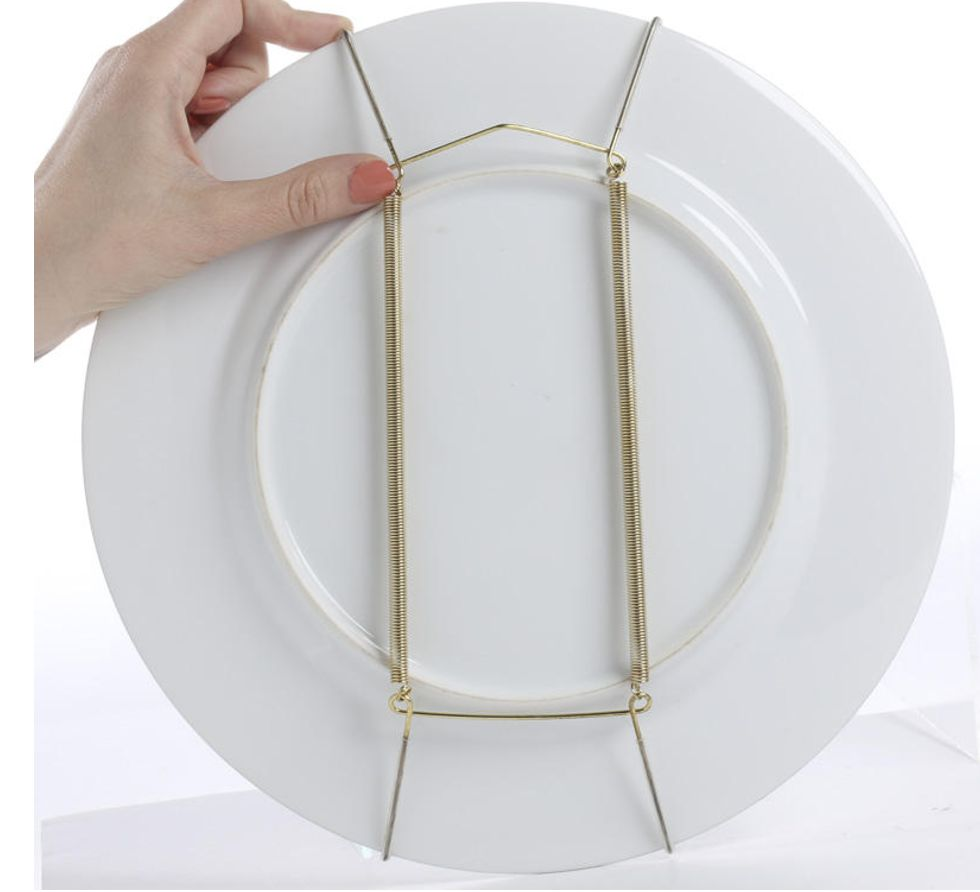 Plate Display Hanger - Brass Finish