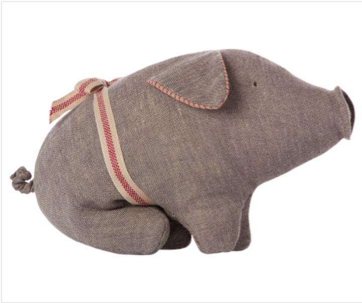 Maileg Cuddle Toy - Pig Grey