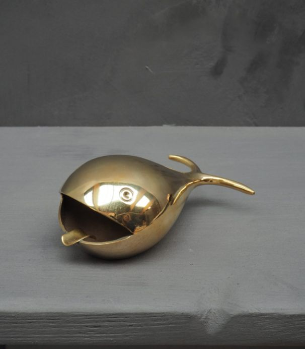 Ashtray Whale - Brass
