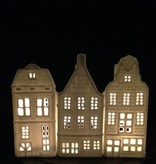 &K Waxinelichthouder Grachtenpand - Tuitgevel