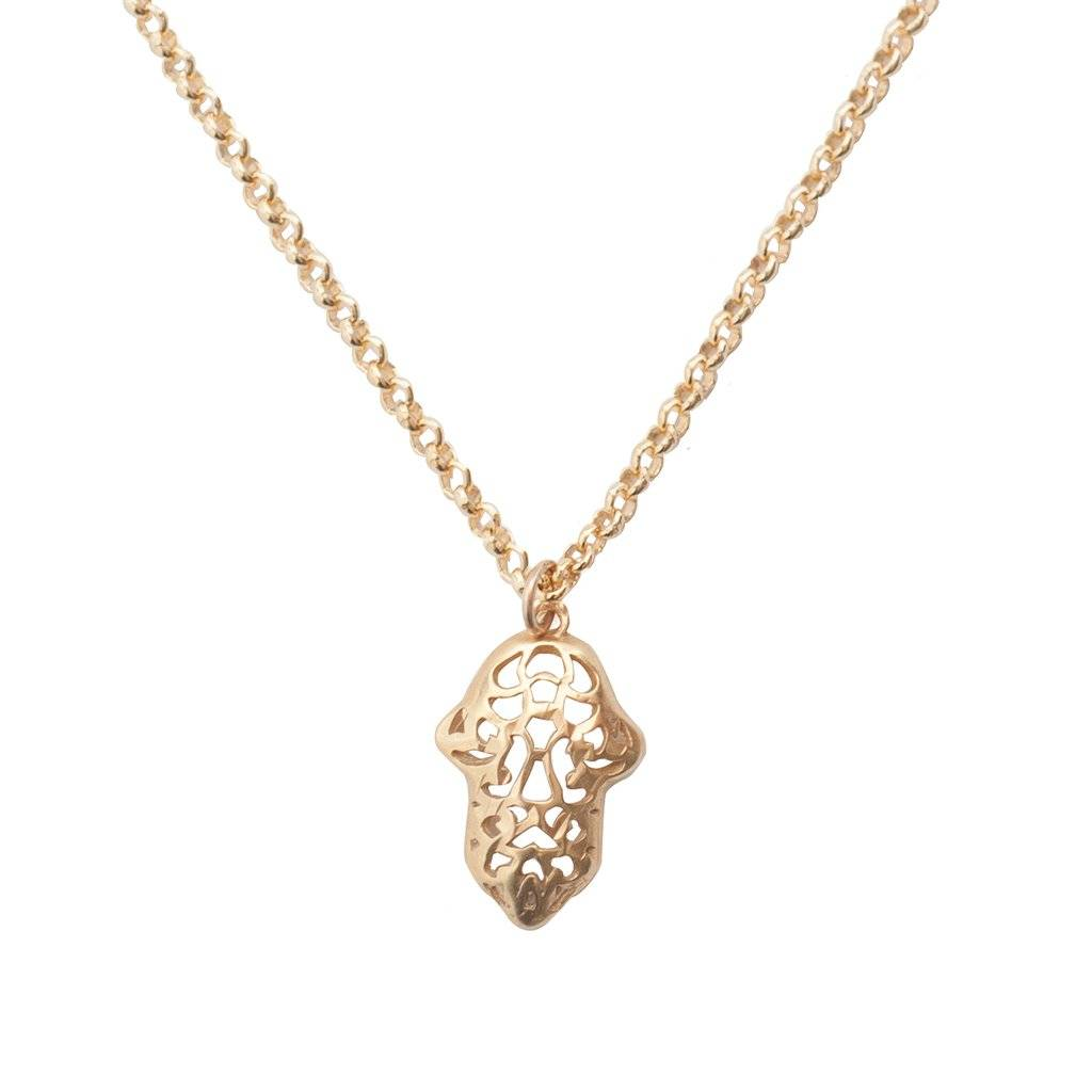 Bobby Rose Necklace - Open Hamsa